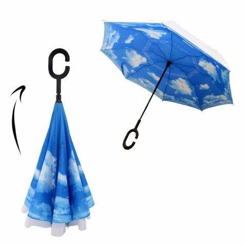 מטריה מתהפכת ממותגת – לוניטק