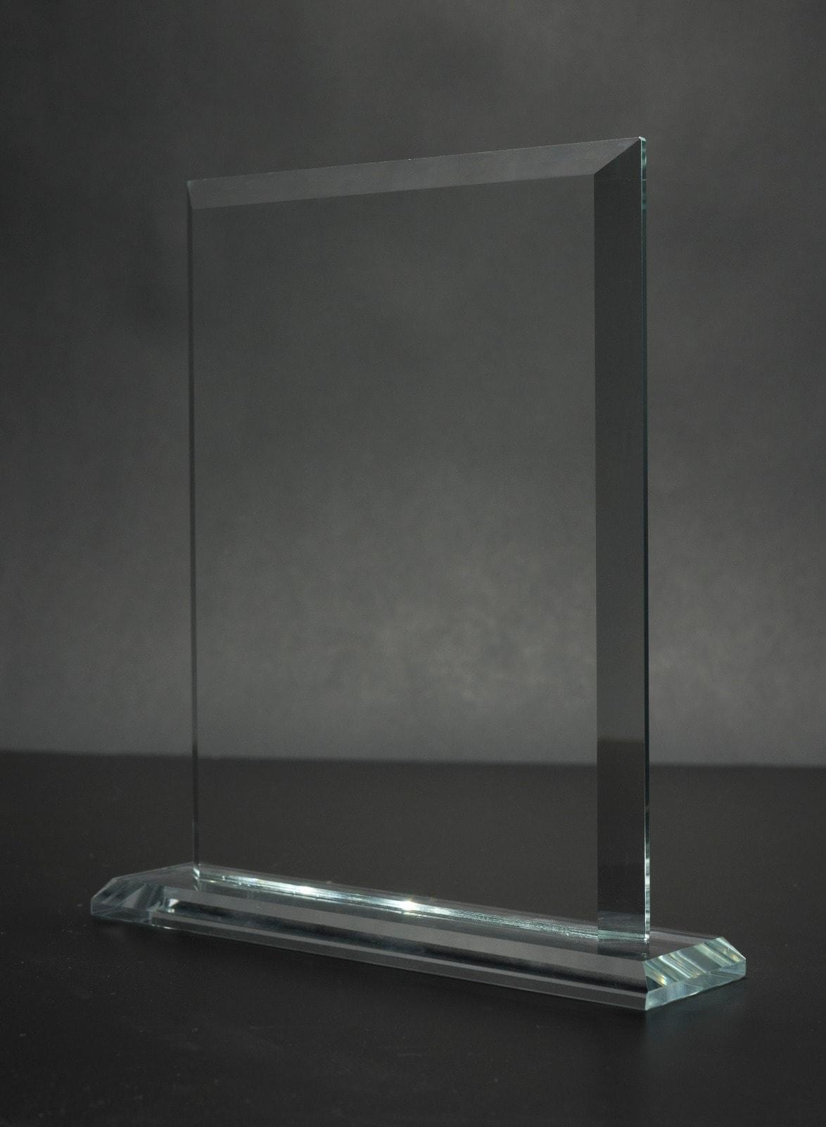 מגן זכוכית מלבן – לוחית הוקרה אלומיניום – לוניטק