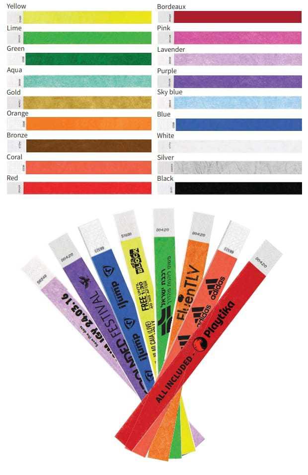 צמידי נייר זיהוי – לוניטק