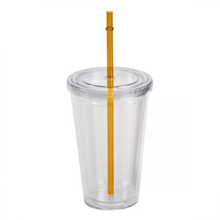 כוס שתיה כתום