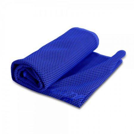 מגבת קירור כחול
