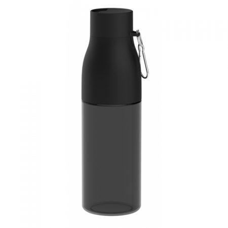 בקבוק שקוף אלגנט שחור