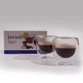 זוג כוסות דופן כפול- JAVAAH