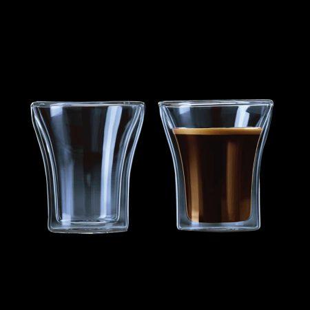 כוס זכוכית חדשה לקפה