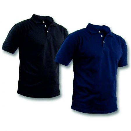 חולצה פולו גברים כחול ושחור