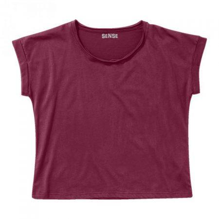 חולצת טריקו נשים עטלף בורדו_83