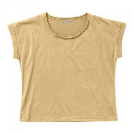 חולצת טריקו נשים עטלף צהוב בננה_100