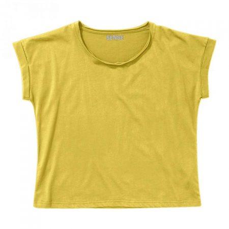 חולצת טריקו נשים עטלף צהוב לימון_87