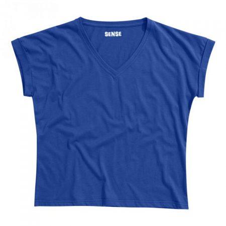 חולצת טריקו נשים עטלף -צווארון V