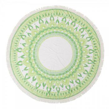 מגבת עגולה מנדלה ירוק