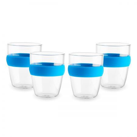 סט כוסות חבקן כחול -סנטו