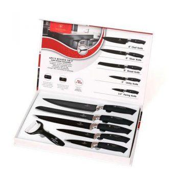 סט 5 סכינים וקולפן באריזת מתנה