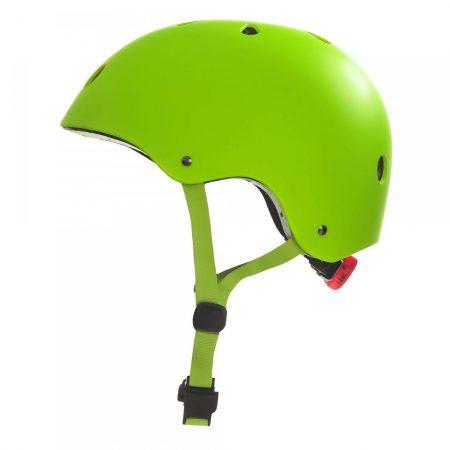 קסדה לקורקינט ואופניים חשמליים ירוק צד
