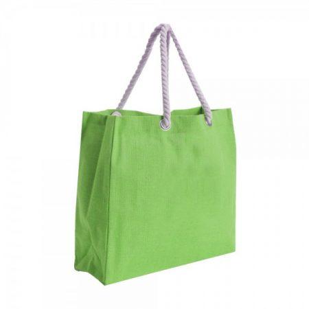 תיק אופנתי מבד ירוק