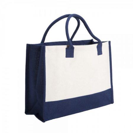 תיק צד מעוצב בסמטי כחול צד