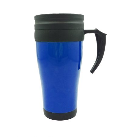 כוס טרמי פלסטיק כחול