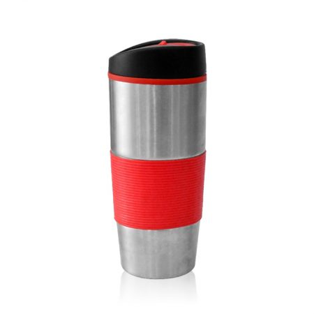 כוס טרמית נירוסטה אדום