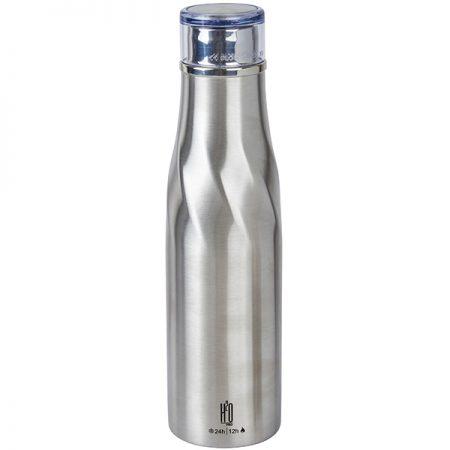בקבוק טרמוס נירוסטה חם קר מבית H2O כסוף