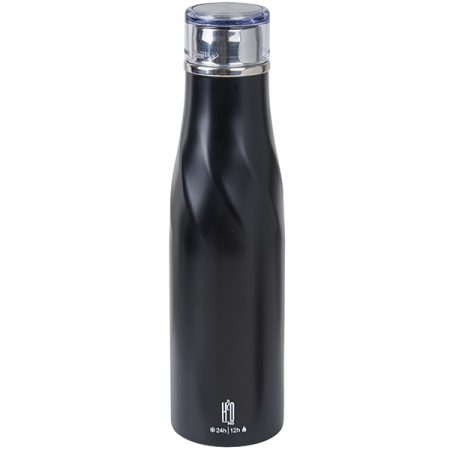 בקבוק טרמוס נירוסטה חם קר מבית H2O שחור