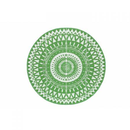 מחצלת עגולה ירוק פתוח