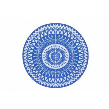 מחצלת עגולה כחול פתוח